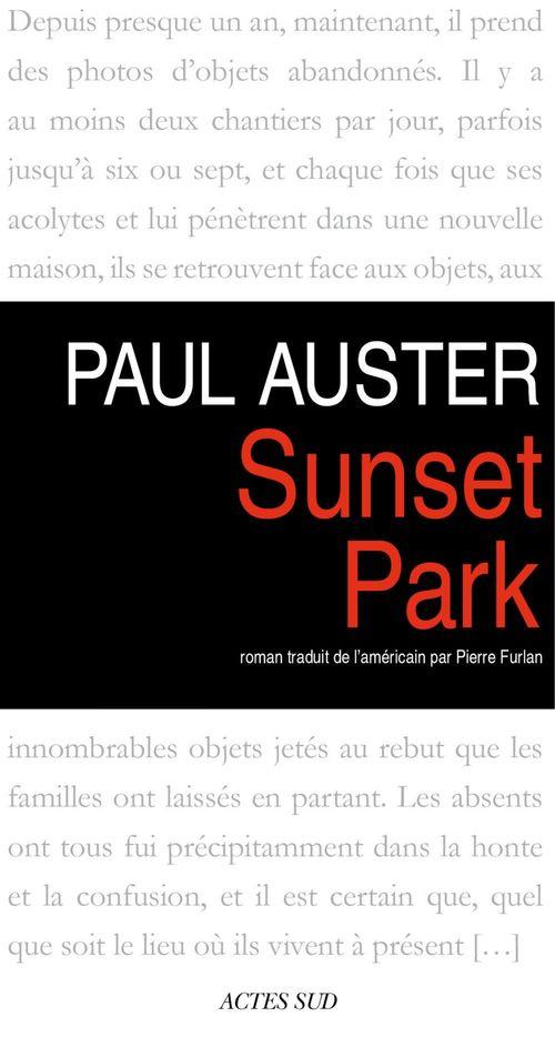 nouveau livre sunset park